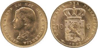 10 Φιορίνι Ολλανδίας του 1897