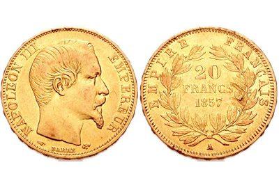 20 Φράγκα Χρυσό Ναπολέων ΙΙΙ