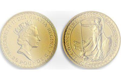 Χρυσό νόμισμα Βρετανίας 25 pounds