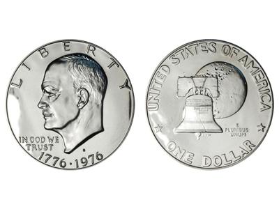 1 Δολάριο Eisenhower bicentennial