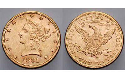 10 Δολάρια του 1881