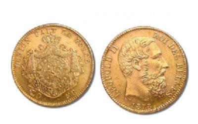 20 Βελγικά Φράγκα του 1878